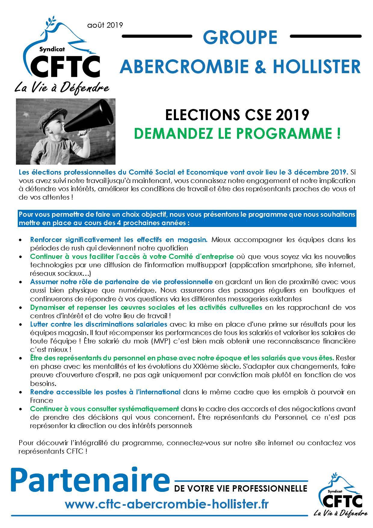Zoom sur les élections professionnelles 2019